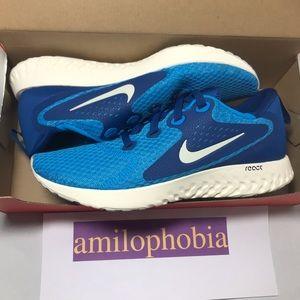 New Men's Nike Legend React Size 10 Blue White